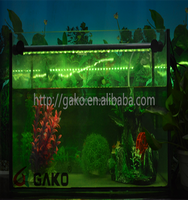Color changing remote control led lighting fish tank water spray aquarium submersible lamp colorful lights