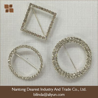 garment accessory pin rhinestone buckles with crystal stone
