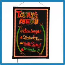 Hot Selling AD LED Writing Board 90 Flashing Modes 60*80cm LED Writing Board RGB5050 Sparking LED Writing Board