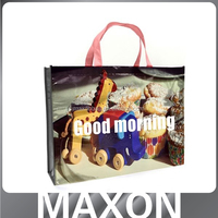 long handle fashion made in china export worldwide fashion college bags,laminated non woven bag