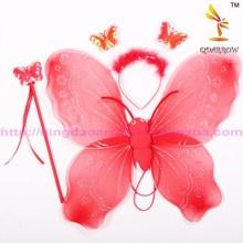 Hot selling wholesale beauty mini fairy wings / angel wings / butterfly wing set