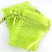 beautiful light green organza pouch