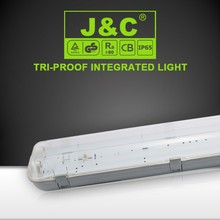 1.2m 2x36w ip65 waterproof fluorescent lighting fixture with CE RoHS