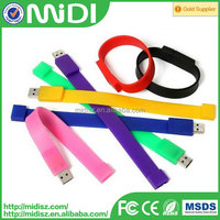 silicone bracelet usb 2.0 drive 4gb-32gb wristband usb flash memory