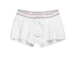 Plain white cotton boxer briefs men high cut briefs wholesale