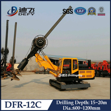 DFR-12C full hydraulic rotary pile driver, crawler mounted ground hole drilling machine