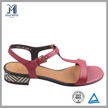 women genuine leather no heel sandals