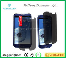 Hot sell 180 degree privacy screen protector for Samsung galaxy s3 i9300 tempered glass