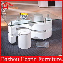 living room furniture s shape modern animal glass coffee table