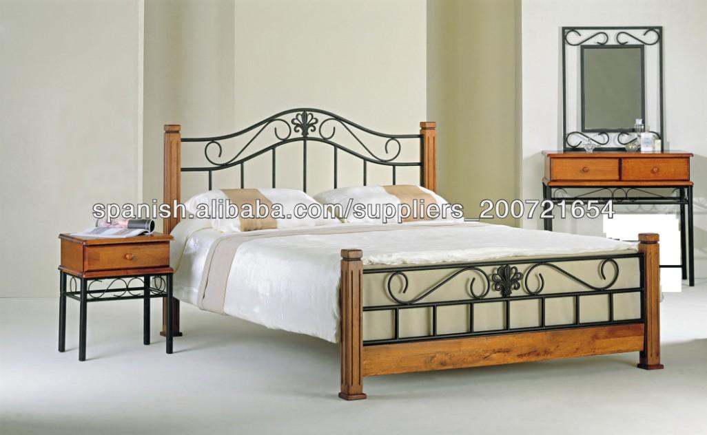 Cabeceros de madera de metal cama fabricados en china cama - Cabeceros cama de madera ...