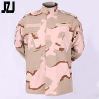 65% Polyester 35% Cotton 3-Color Desert Modern ACU Camo Military Uniform Sand Color