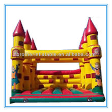 XD06BC003 Various Colors 0.55mm PVC tarpaulin Inflatable Bouncy Castle Strong Net Fabric Inside
