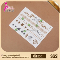 Temporary Feature and Tattoo Sticker Type metallic flash tattoo