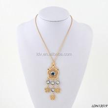 Matte gold filigree flowers pendant necklace matte gold jewelry