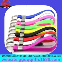 customized metal plastic PVC sillicon wrist bracelet keychain