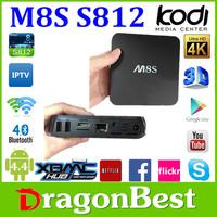 quad core amlogic m8s android tv box s812 quad core android 4.4 smart OTT tv box arabic iptv set top box
