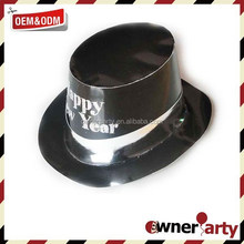 Black Color And Happy New Year Paper Hat Manufacturer