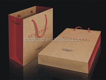 Cotton handle strong shopping paper bag For food