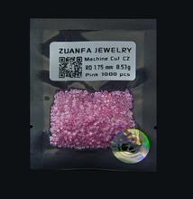 máquina de cortar wuzhou 1.75mm rosa de piedras preciosas zirconia