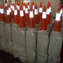 plastic and rubber Triangle Traffic Cone 500 Pieces (Min. Order) from china
