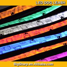 popular led pet collar, bear led flash dog leash,led pet strap light for walking the dog at night cat disco