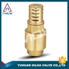"brass 1/2"" or 2"" inch female thread heavy duty casting water pump foot valve with strainer"