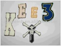 Number and Letter Chenille Embroidery Patch
