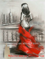 beautiful Chinese girl women nude oil paintings