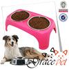 Stainless steel dog feeder bowl / raised pet feeder