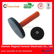 Strong neodymium rubber coated holding magnet,sign gripper,magnetic assembling