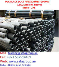 PVC ELECTRICAL DUCT PIPES (BLACK) FOR EXPORT TO AFRICA IRAQ SUDAN ALGERIA IRAN LIBYA NIGERIA