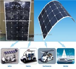 Highest efficiency Sunpower Solar Panel 20w 50w 100W 120W 150W 180W 200w Semi Flexible Solar Panels, Boat Flexible Solar Panels