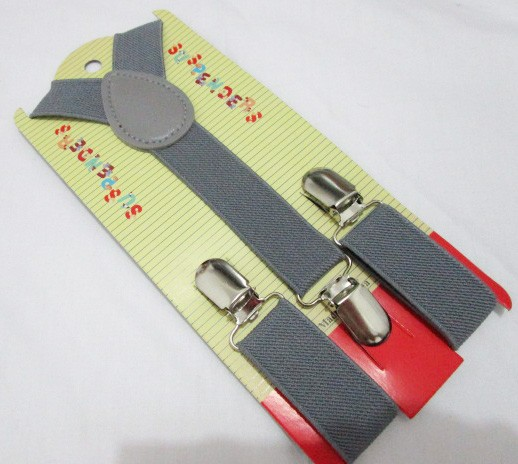 2014  Plain Цвет Детский /Kids Adjustable Clip-on Y-back Suspenders For Boy and Girls For 1-8 Years