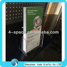 tabletop a5 a6 acrylic brochure holder single pocket brochure holder,Shenzhen China manufacturer