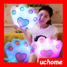 Uchome Favorites Compare light up pillow and blanket OEM supplies with red/blue/green star shape led light pillow