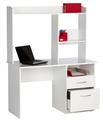 Blanco escritorio de la computadora moderna