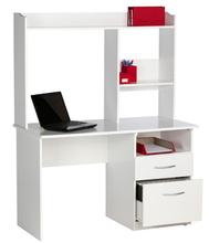 White modern computer desk