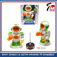 Plastic rc robot toy battery basketball robot electric robot