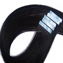Top Grade1B# Light Black Silk Straight Brazilian Human Hair Remy hair extension tape