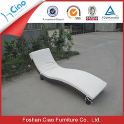 Luxury rattan outdoor furniture beach beds patio sun bed