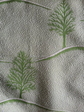 green color polyester tree design fabric for curtain