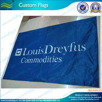 75D woven polyester custom flag for outdoor advertising