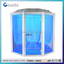 New color lights(1~7person) wet Steam shower room/indoor steam room