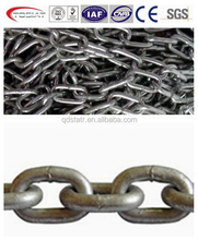 Hot dip galvanized yellow painted transport link chain NACM84/90 G70, roller chain Chinas