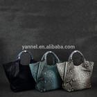 Python luxo senhora de couro handbag_python pele handbag_exotic pele bolsa