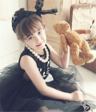 sexy fashion kid girls evening party dress cotton cat printing cool kids short dress for party