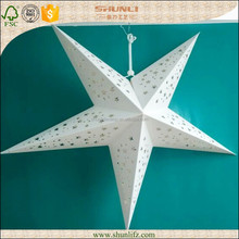 baby room decor handcraft recycled white Origami Lucky Star