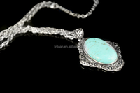 Foreign trade wholesale silver multiple pendant necklace