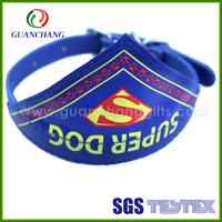 China professional nylon dog collar with name plate