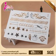 2015 hot sale fashion custom design henna sticker tattoo stencils